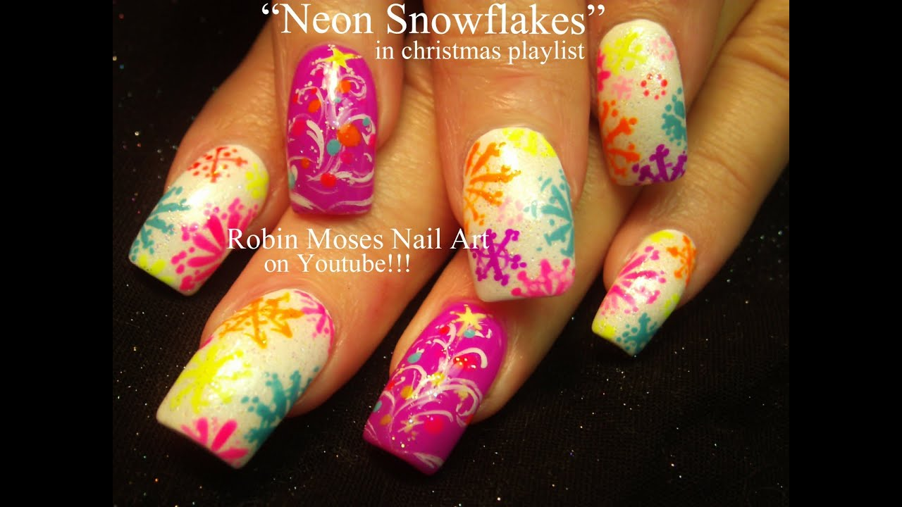 Easy Christmas Nail Art Designs Youtube | Hession Hairdressing