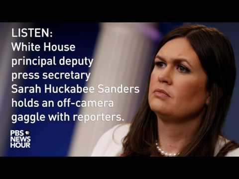 listen-sarah-huckabee-sanders-holds-off-camera-white-house-news-briefing