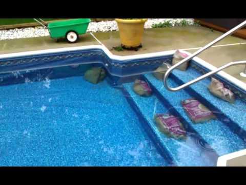 Pool Liner Floating Youtube