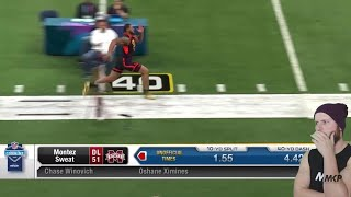 Rugby Player Reacts to The 2019 NFL Combine EDGE RUSHERS Running The 40 Yard Dash!