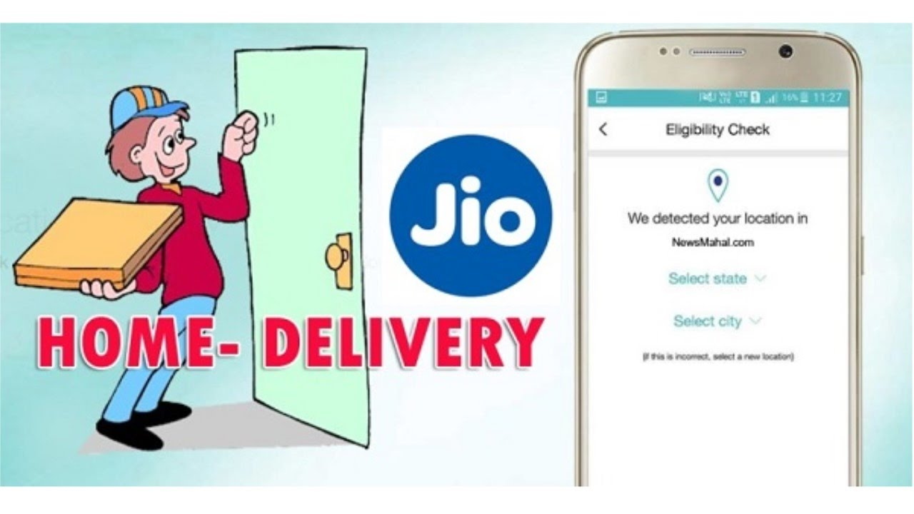 f4c0df81351  हिंदी  How to get Jio SIM Home Delivery - YouTube