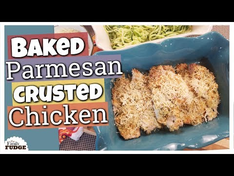 BAKED PARMESAN CRUSTED CHICKEN || 5 Ingredient EASY Recipe