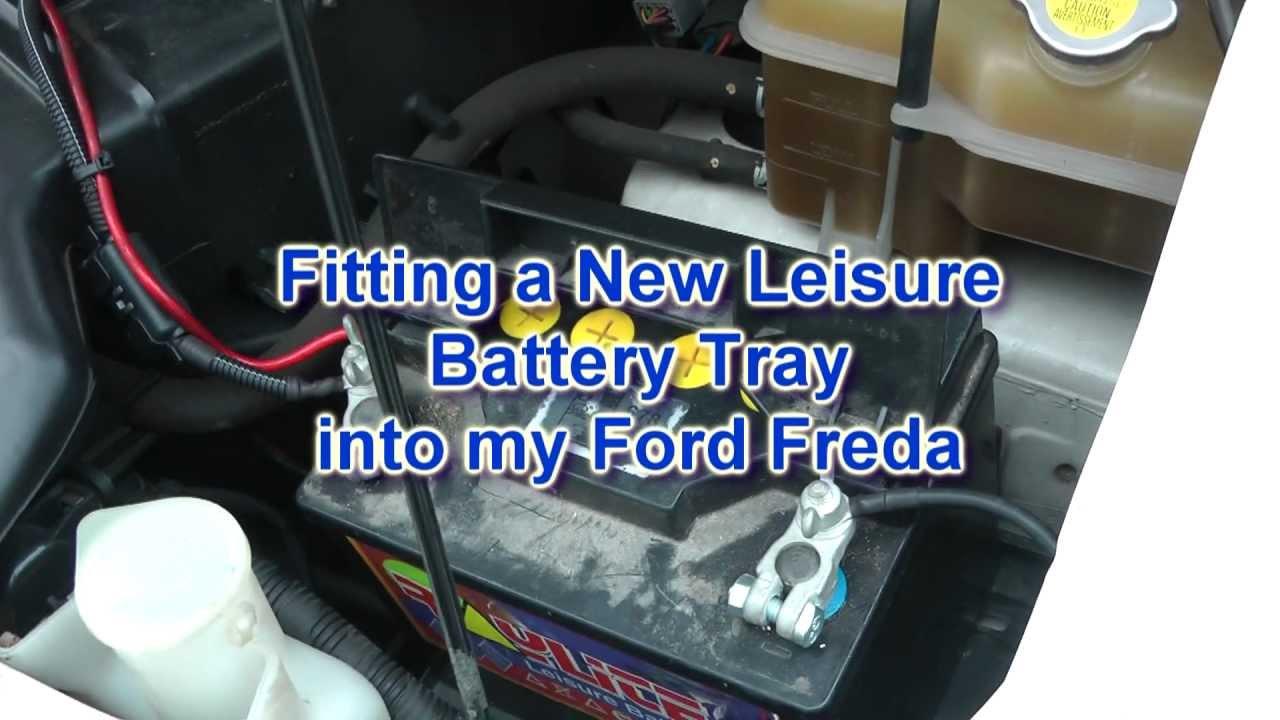 rv wiring diagram rj11 uk ford freda/mazda bongo - fitting a new leisure battery tray youtube