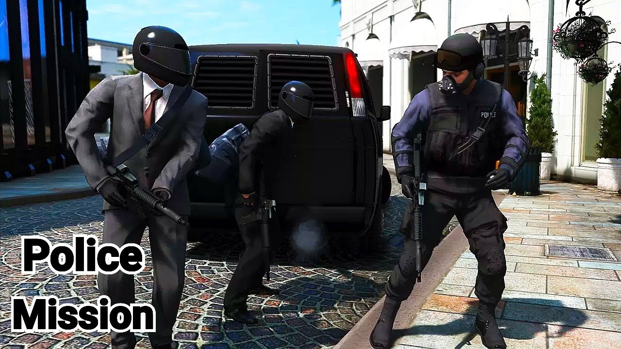GTA 5 Mission (Remastered) - Jewel Heist with a Police Team!!!