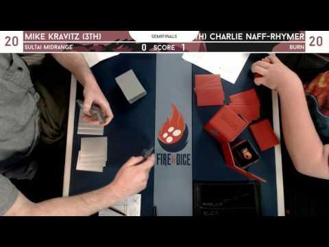 Legacy Seminfinals @ Fire & Dice [3/25/17] - Mike Kravitz (4c Control) v Charlie Naff-R. (Burn)