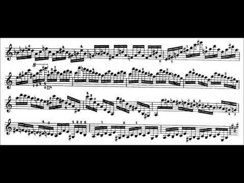 Niccolò Paganini - Caprice for Solo Violin, Op. 1 No. 5 (Sheet Music)