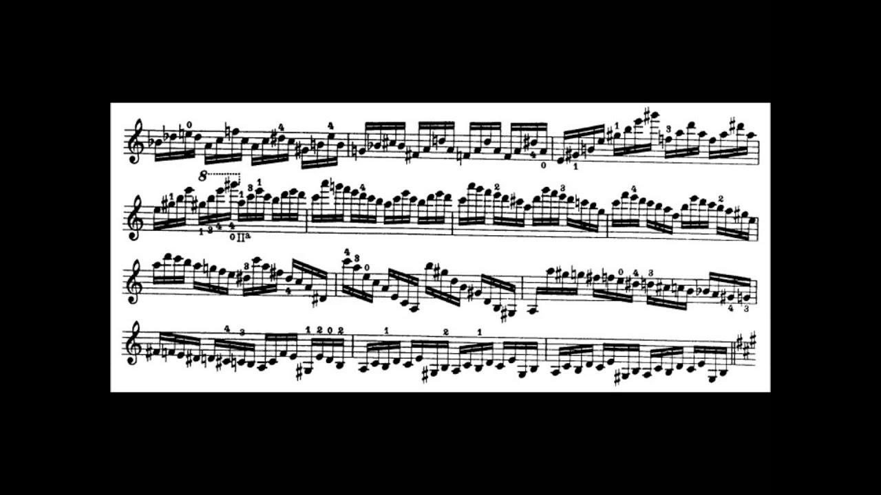 Niccolò Paganini - Caprice for Solo Violin, Op  1 No  5 (Sheet Music)