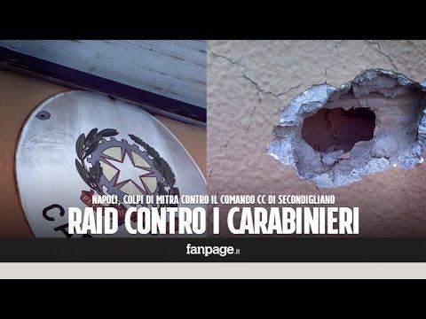 Secondigliano, spari di mitra contro comando carabinieri: bambini giocano con fori proiettili