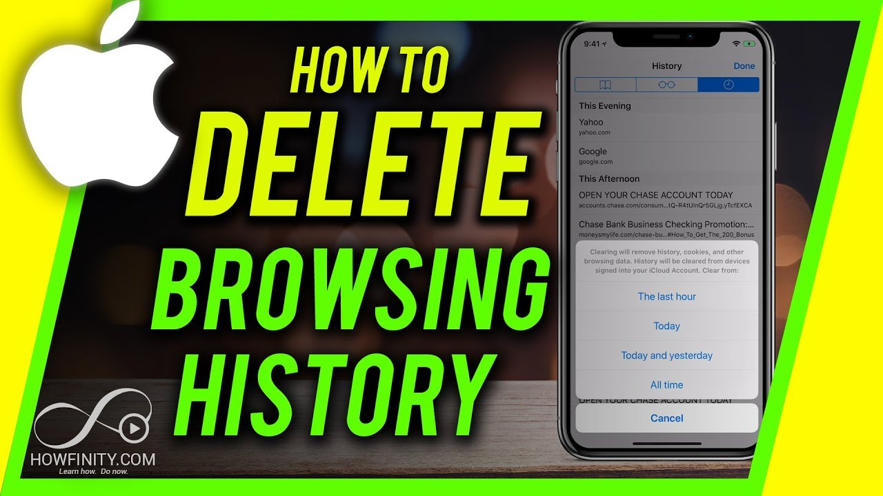 How To Clear Browsing History On Iphone Or Ipad Youtube