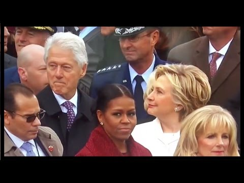 HILLARY CATCHES BILL STARING AT IVANKA TRUMP AT...