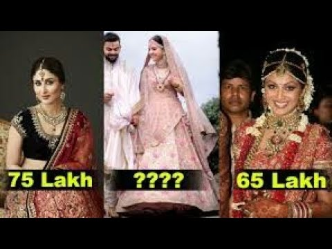 9 Most Expensive Wedding Dress Of Bollywood Actresses Anushka