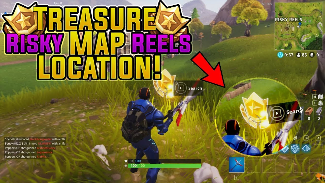 Fortnite Risky Reels Treasure Map Location Challenge L Season  Challenges