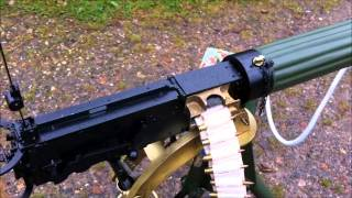Replica Vickers machine gun with gunfire simulator gas gun