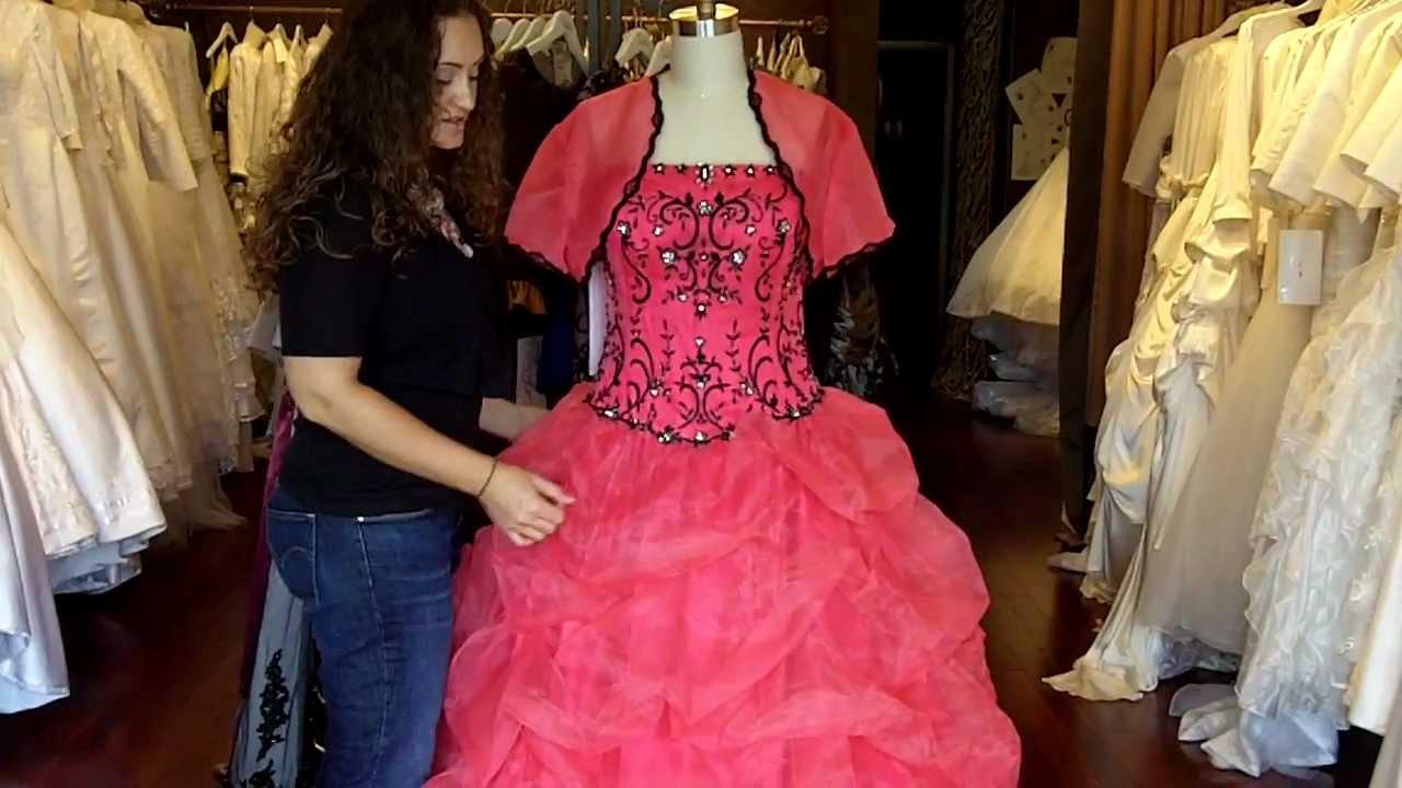 Pink And Black Wedding Dress Youtube
