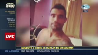 Augusto Fernández y Godín burlándose de Griezmann