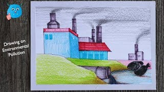 How To Draw Environmental Pollution Scenery for Beginners Step by Step