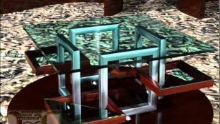 Furniture Review: Chained-assf Contemporary Coffee Table With Casters