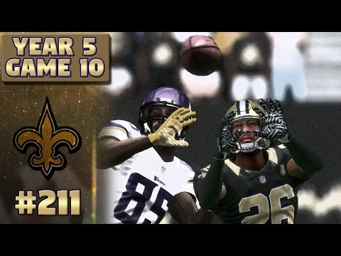 Saints vs Vikings Highlights (S5,G10) | Madden NFL 17 New Orleans Saints Franchise Ep. 211