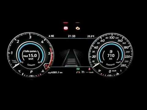 VW Golf 7.5 GTD 2018 - Tiguan: modifica cruscotto Active info Display (AID)