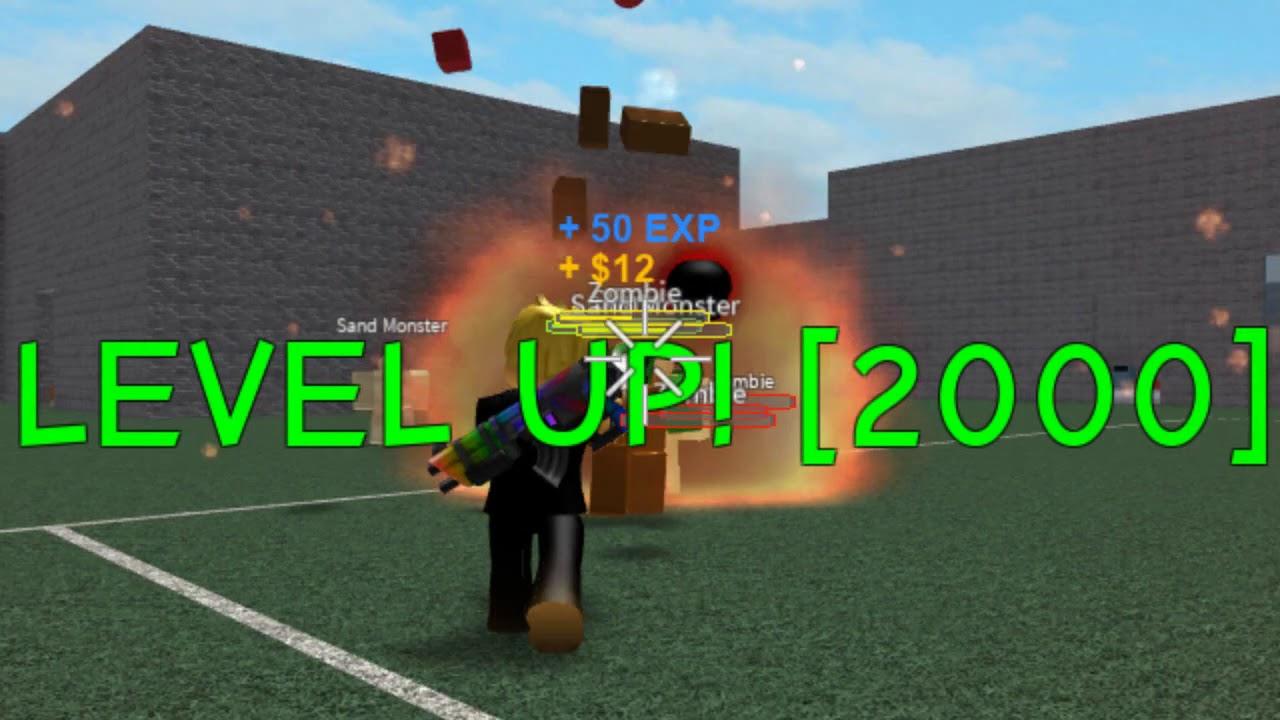 Roblox Zombie Attack Level 2 000 Youtube