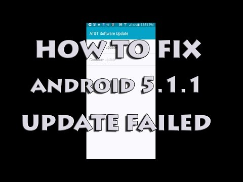 Samsung Galaxy S5 Android 5.1.1 Update Failed