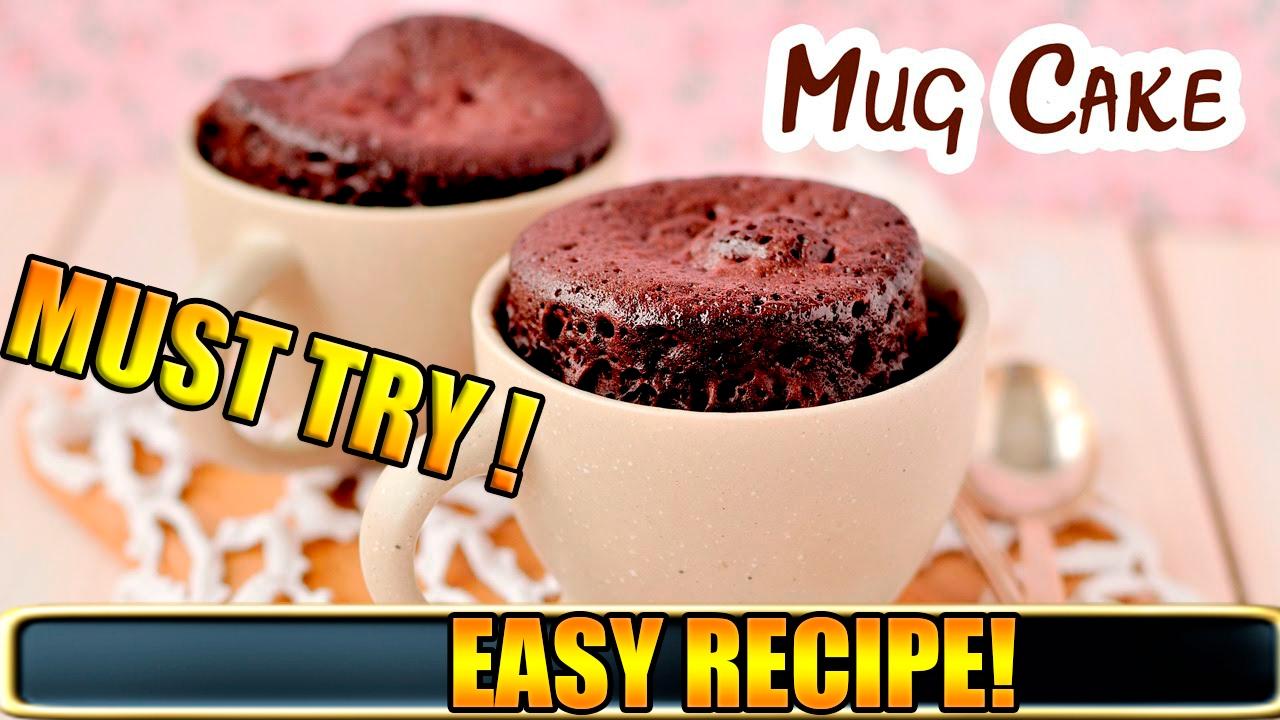 Easy DIY Mug Cake Recipe! | 1 Minute Microwave Mug Cake ...