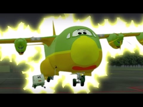 Cartoons About Cars And Planes - The Airport Diary - Gugu Is Weird! (Cartoon 66)