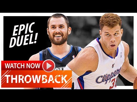 Kevin Love vs Blake Griffin EPIC Duel Highlights (2012.01.20) Clippers vs Wolves - MUST Watch!