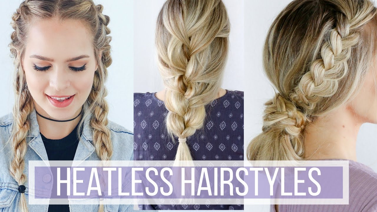 Hair Style Videos Youtube: 3 Days Of Heatless Hairstyles Hair Tutorial