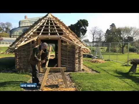Replica Viking House being constructed in Dublin