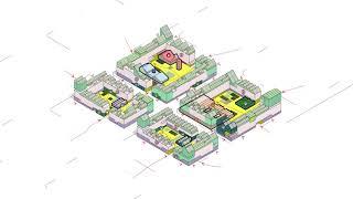 El arquitecto Vicente Guallart construirá las primeras viviendas post-covid. Desarrollo 2D. Bocetos