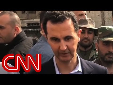 Syria's Assad films visit to war-torn Eastern Ghouta