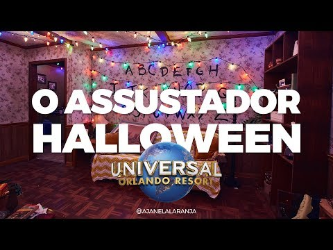 O aterrorizante halloween horror nights 2018, orlando, Florida, hhn
