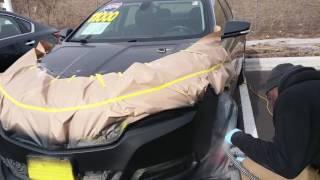 How to repair bumper when clear coat peels