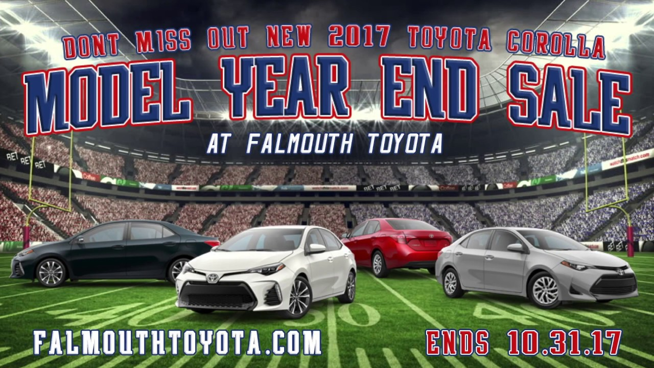 2017 toyota corolla model year end sale october at falmouth toyota of bourne ma youtube. Black Bedroom Furniture Sets. Home Design Ideas