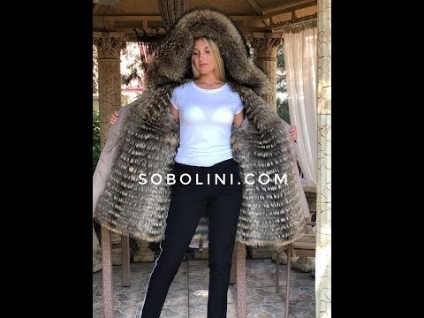 Новинка! Парка с мехом енота Raccoon и отстежкой на жилет, производство ТМ Sobolini