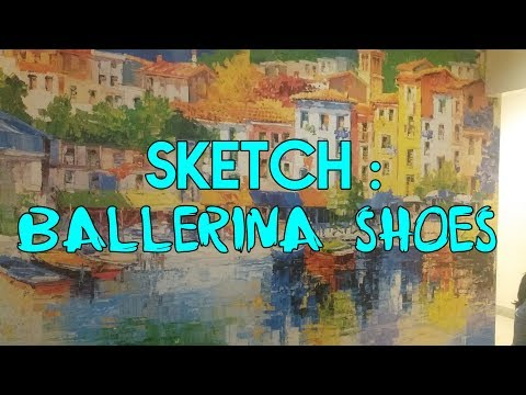 Sketching with Pencil | Ballerina Shoes