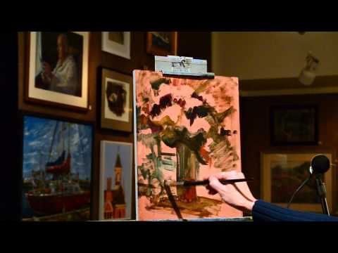 Leah Lopez AAPL demonstration at the Salmagundi Club