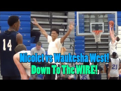 Nicolet and Waukesha West BATTLE DOWN TO THE WIRE! Jamari Sibley vs David Skogman!