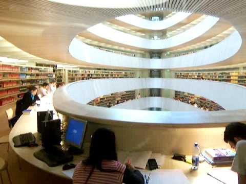 Santiago Calatrava Zurich Law Library - Elevator Ride