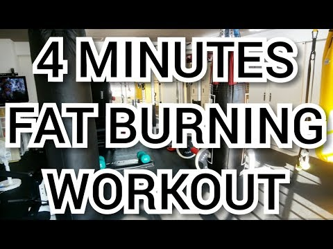 4 MINUTES FAT BURNING WORKOUT                                   脂肪燃焼ダイエットエクササイズ