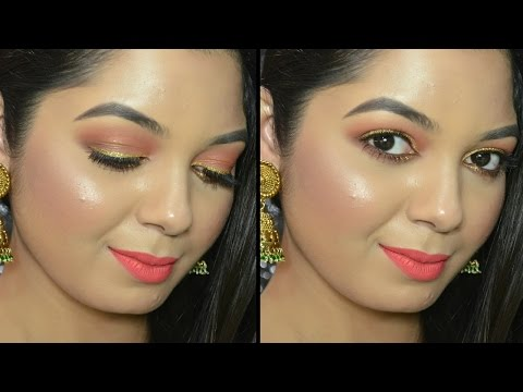 Makeup Tutorial using The New LAKME Illuminating Sabyasachi eyeshadow palette | French Rose