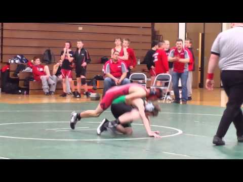 Ethan wrestling at New Castle Middle School