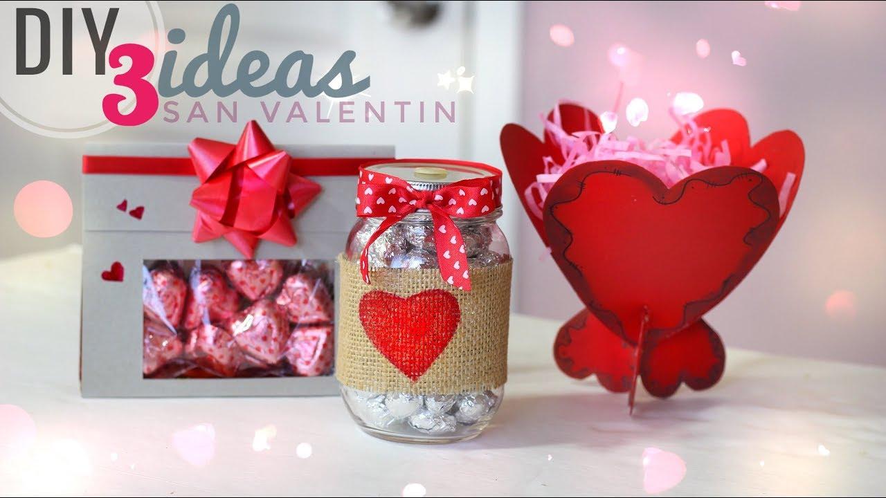 Diy 3 ideas para san valentin manualidades dia del amor y la amistad diy 14 de febrero youtube - Manualidades para hacer en san valentin ...