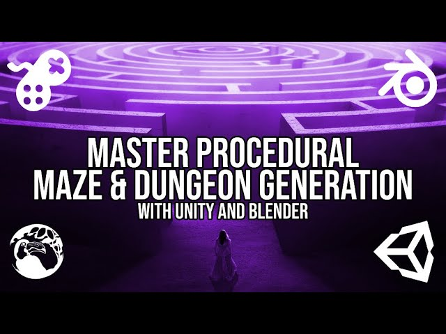 Master Procedural Maze & Dungeon Generation with Unity and Blender [PROMO]
