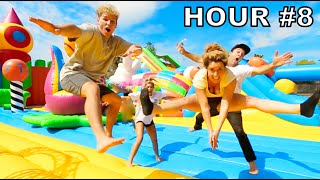 Last Jumping in Worlds Largest Bounce House Wins!