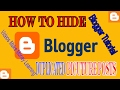 How To Hide Image in Blogger Post Trick, Blogger Tutorial, Script To Hide Photo Thumbnail Post 2017
