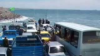 Iran :: crossing lake Urmia  ارومیه (when there was water and no bridge)
