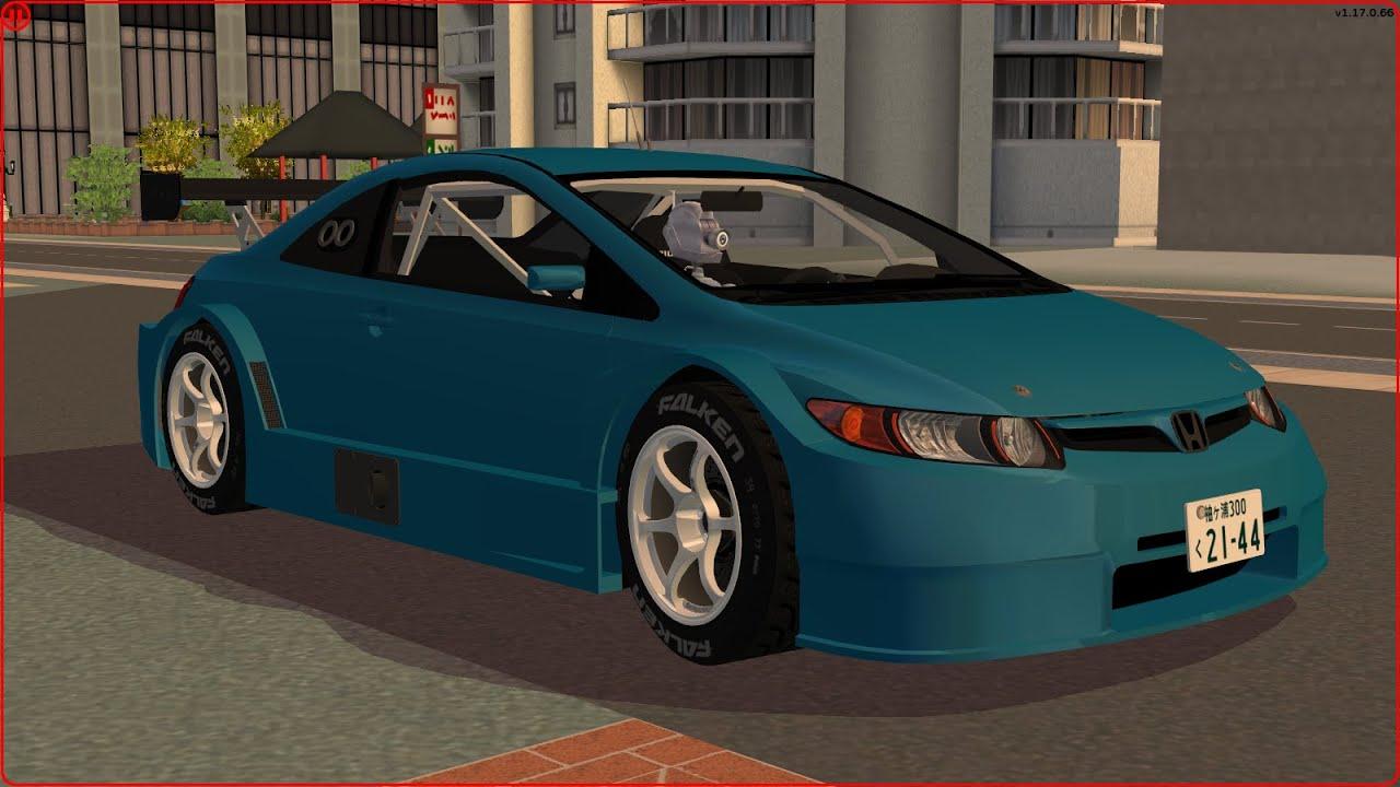 Sims 2 Car Conversion By VoVillia Corp.   2006 Honda Civic Si Coupe Tuned