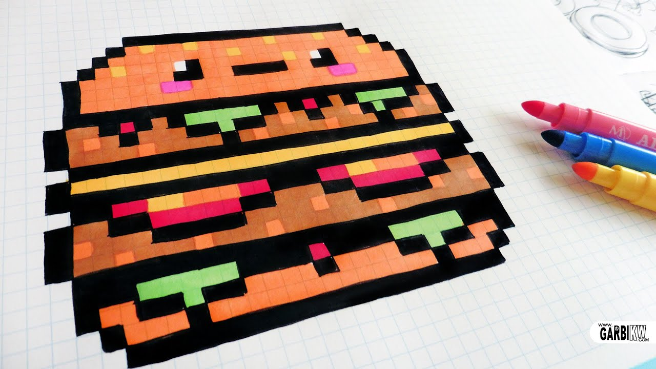 Handmade Pixel Art How To Draw Kawaii Big Mac Pixelart Youtube